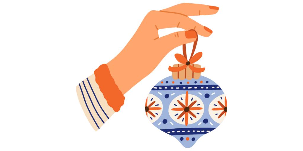 Consejo #8: Reutiliza los adornos de Navidades pasadas
