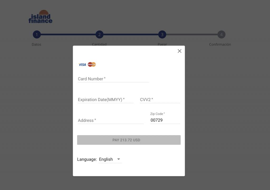 Pago por tarjeta de débito