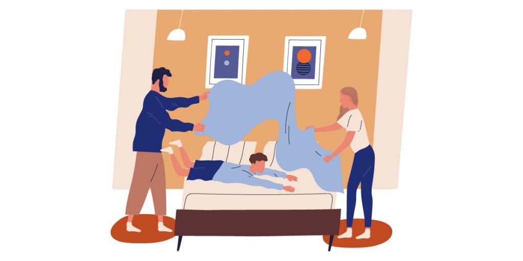 Arregla tu cama por la mañana